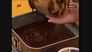 کیک بستنی شکلاتی