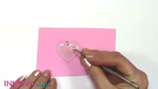 پلاک قلب با چسب حرارتی