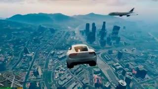 ویدئوی مد پرواز بازی GTA V