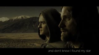 آراگون و لگولاس در ارباب حلقه ها