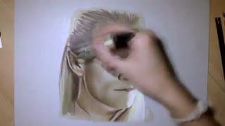 نقاشی زیبا از لگولاس شخصیت خیالی در ارباب حلقه ها و هابیت