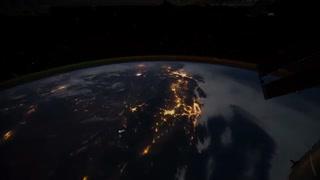 شب زمین از دید ایستگاه فضایی بین المللی