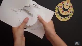 کارت تبریک تولد شکل کیک