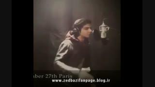 اجرای آهنگ دلم تنگ شده و صدای زنده استاد در استودیو