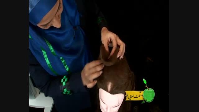 آموزش شنیون خانم ابراهیم پور