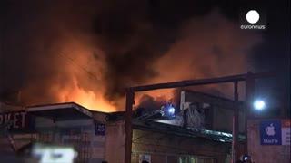آتش سوزی مرگبار در حومه مسکو