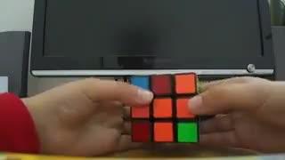 روش نیم حرفه ای حل مکعب روبیک