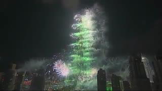 مراسم سال نو 2016 در برج خلیفه، دبی ، امارات متحده عربی