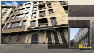 انیمیشن ساختمان در منطقه یک تهران