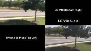 مقایسه دوربین گوشی آیفون ۶ اس و ال جی وی ۱۰