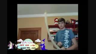 آموزش خوردن بادکنک - شعبده بازی تردستی