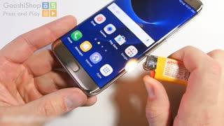 مقاومت Galaxy S۷ در برابر چاقو، خم شدن و شعله های آتش!!