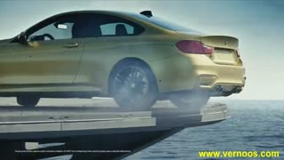 دریفت  BMW M4 بر روی ناو جنگی