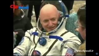 بازگشت از ایستگاه فضایی پس از 1 سال(ویدئو)