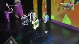 BTS at the Award Ceremony of Women's Korean Basketball League-*رها*