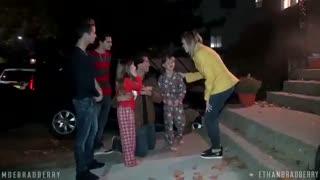 دوربین مخفی - آتش گرفتن منزل و عکس العمل بچه ها