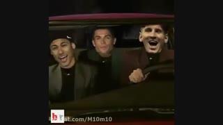 رونالدو.مسی نیمار در راه گرفتن توپ طلا ( طنز)