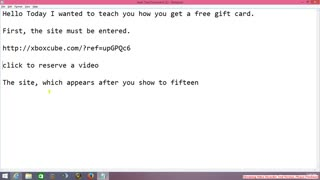 Receive training free gift card