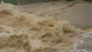 ویدئو طغیان رودخانه بیلو و کلین کبود مریوان