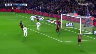 گل پیروزی رونالدو به بارسلونا در ال کلاسیکو