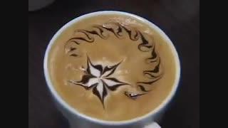 تزئین کاپوچینو - قهوه کافی نوش