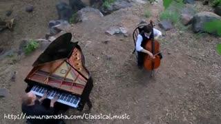 اهنگ a thousand با پیانو و ویلن سل.