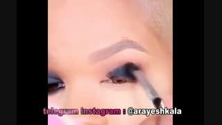 آموزش میکاپ و آرایش دور چشم خودآرایی صورت
