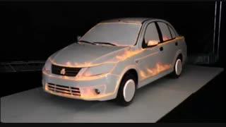 رونمائی متفاوت از جدیدترین خودرو شرکت سایپا با ویدئو مپینگ