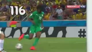 نمایش برترین و بهترین  گل های جام جهانی 2014
