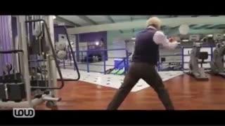 پیرمرد ورزشکار (من که دهنم باز موند)