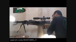 نبرد تک تیرانداز های سوریه با داعش