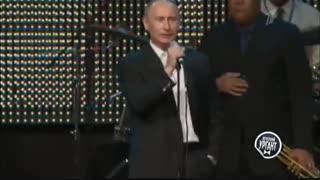 """ظاهر شدن  رییس جمهور روسیه """"پوتین"""" در برنامه   The Voice و حیرت زدگی داوران"""