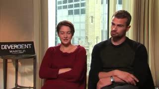 مصاحبه با بازیگران مجموعه فیلم های دایورجنت : شایلین وودلی و تئو جیمز