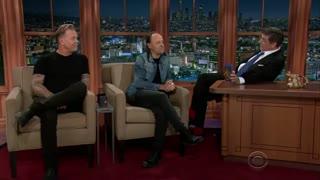 Lars Ulrich, James Hetfield - Late Late Show with Craig Ferguson