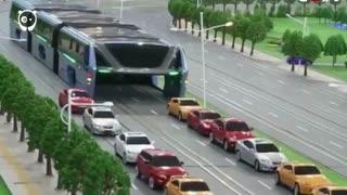 برای این اتوبوس هوایی چینی ترافیک بیمعنا است!
