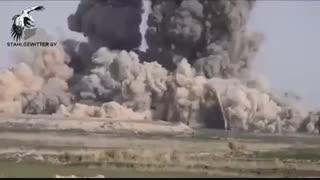 موشک باران وسیع مواضع داعش