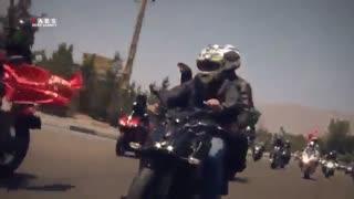 رژه 100 موتور سنگین در تهران به یاد شهدای مدافع حرم