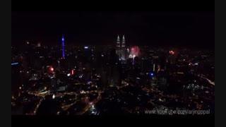 آتش بازی زیبا 2016 در کوالالامپور