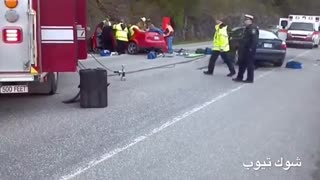 خارج شدن روح جسد در تصادف رانندگی