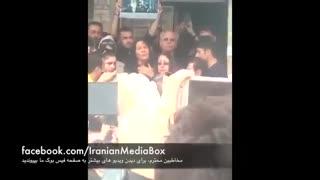 ضجه های همسرش و مردم در مراسم به خاک سپردن حبیب