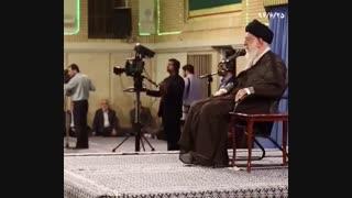 شعر خوانی حاج صادق آهنگران در محضر رهبری