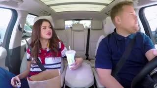 Selena Gomez  and James Corden