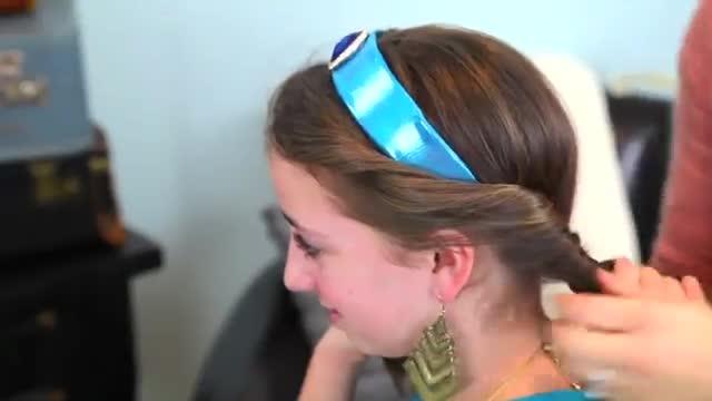 بستن مو به شکل پرنسس یاسمین