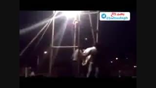 اعدام رضا قرایی یکی از قویترین مرد های ایران