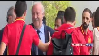 وداع بازیکنان اسپانیا با دلبوسکه
