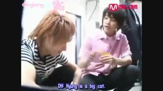 غذا دادن لیتوک و دونگهه به پیشی :d سوپر جونیور ، Super junior