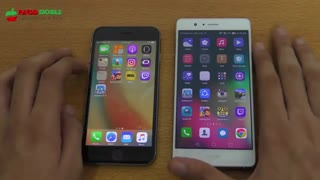تست سرعت Huawei P9 lite  vs iphone 6s