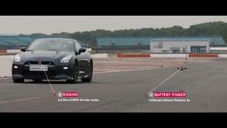 مسابقه سرعت بین پهپاد و نیسان GTR