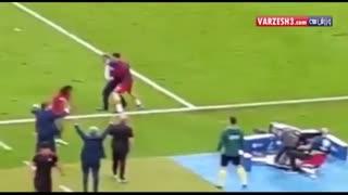 شور و هیجان رونالدو در دقایق پایانی فینال یورو 2016