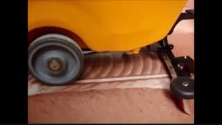 زمین شور صنعتی , کفشو زمین , اسکرابر کف شور دستی